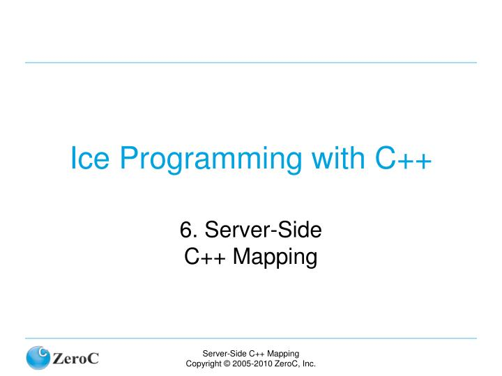 ice programming with c