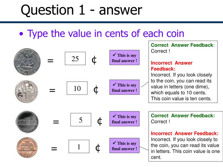 Question 1 - answer