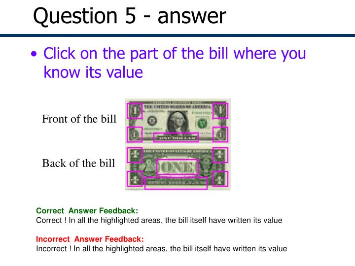 Question 5 - answer
