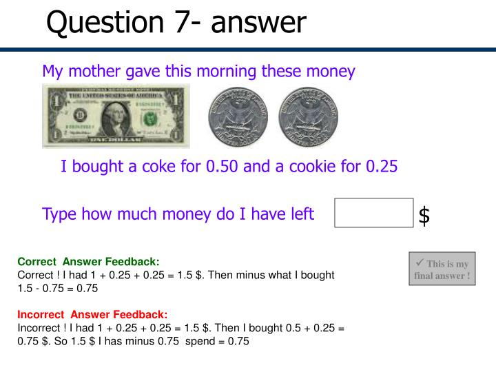 Question 7- answer