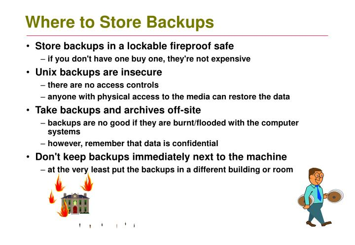 Where to Store Backups