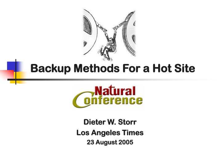 backup methods for a hot site n.
