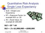 quantitative risk analysis single loss expectancy