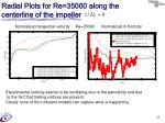 radial plots for re 35000 along the centerline of the impeller1