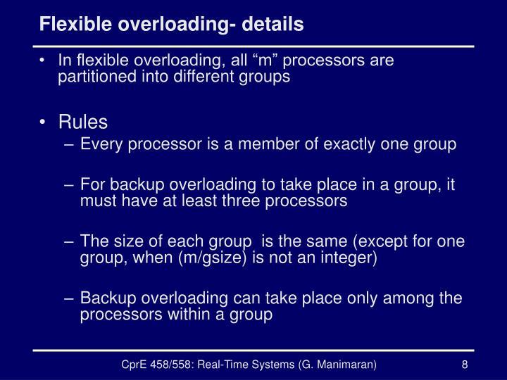 Flexible overloading- details
