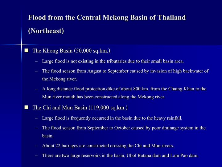 Flood from the Central Mekong Basin of Thailand (Northeast)