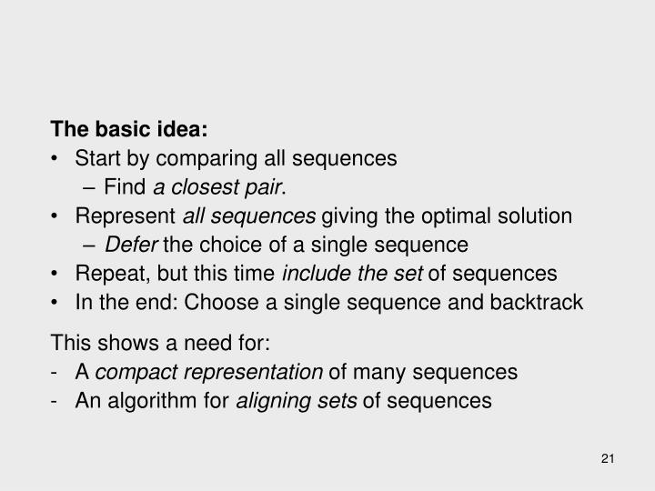 The basic idea: