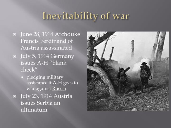 Inevitability of war