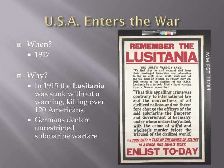 U.S.A. Enters the War