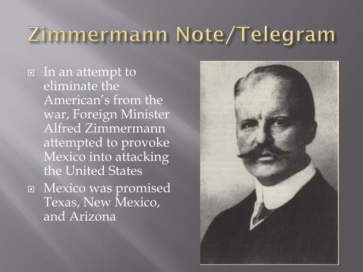 Zimmermann Note/Telegram