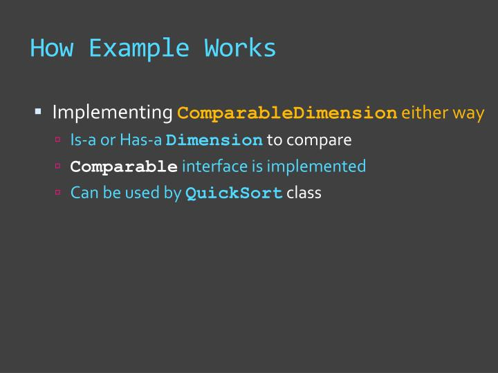How Example Works