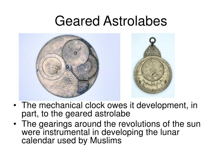 Geared astrolabes