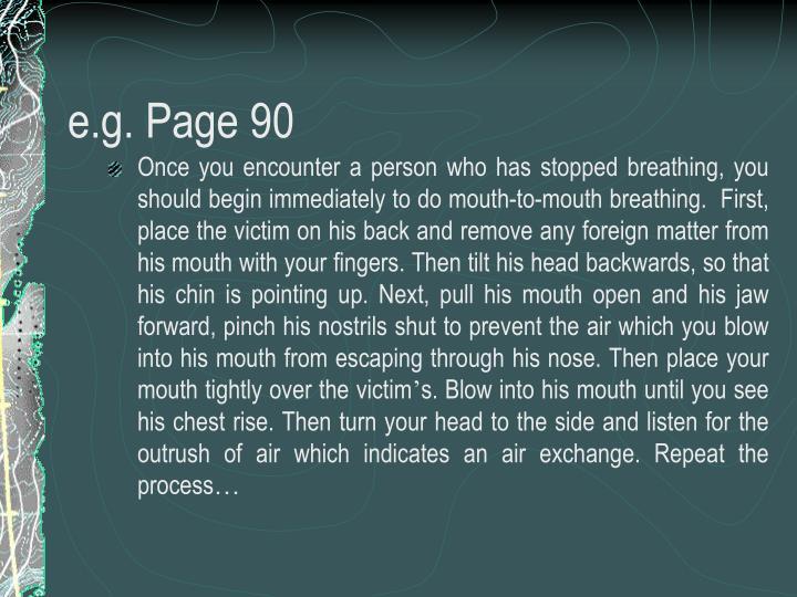 e.g. Page 90