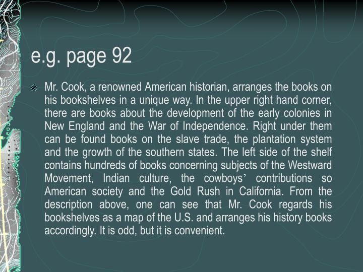 e.g. page 92