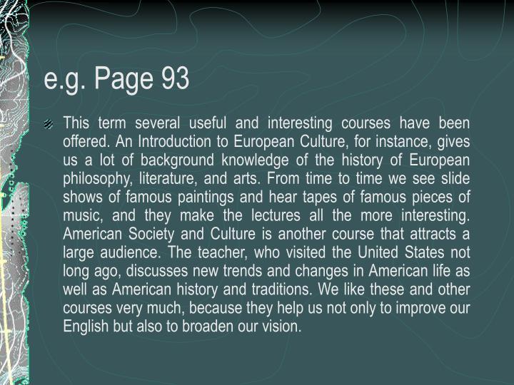 e.g. Page 93