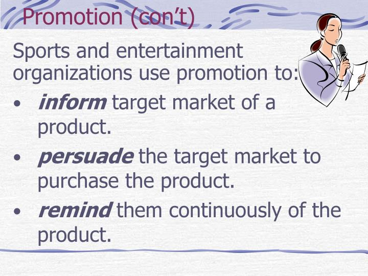 Promotion con t