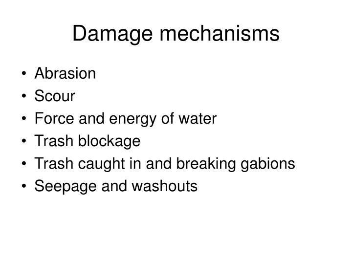 Damage mechanisms