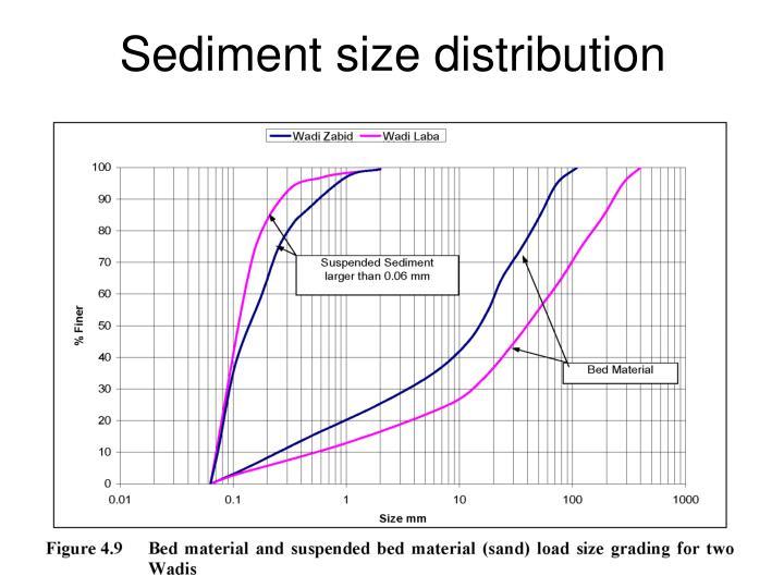 Sediment size distribution