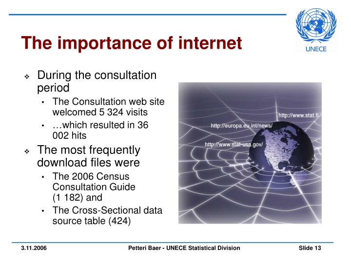 The importance of internet