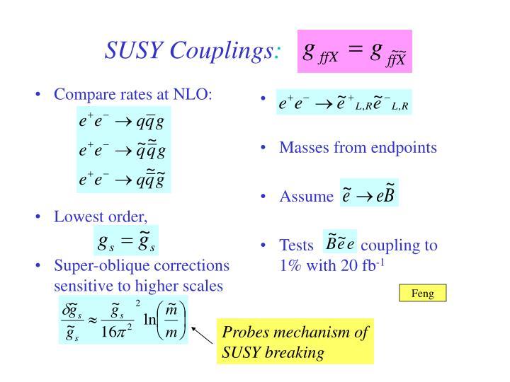 Compare rates at NLO: