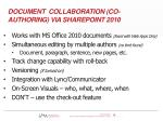 document collaboration co authoring via sharepoint 2010