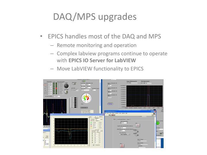 DAQ/MPS upgrades