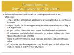 accomplishments service improvements for clients1