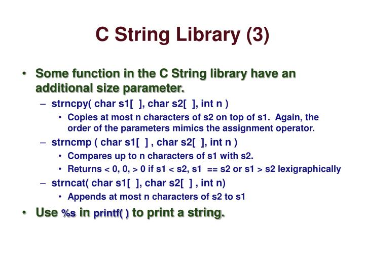 C String Library (3)