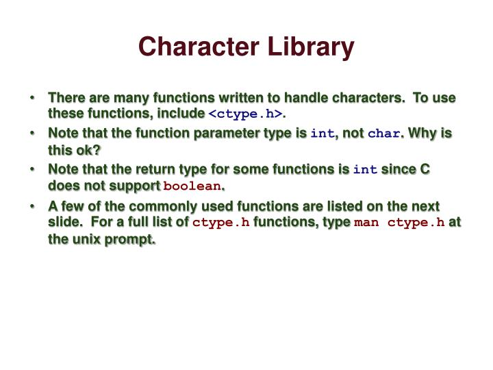Character Library
