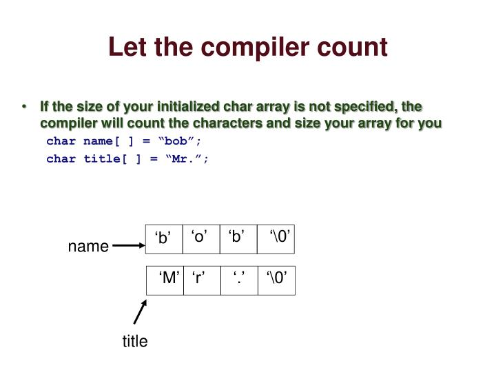 Let the compiler count