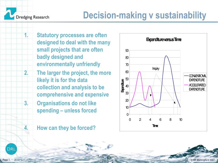 decision making v sustainability n.