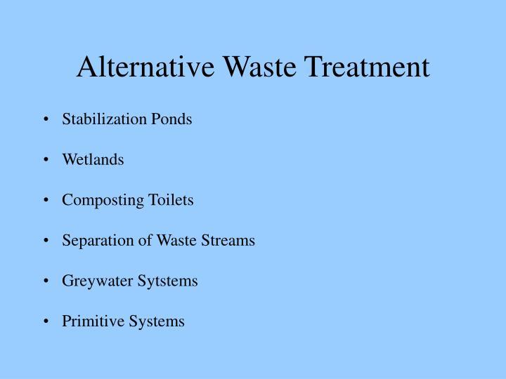 Alternative Waste Treatment