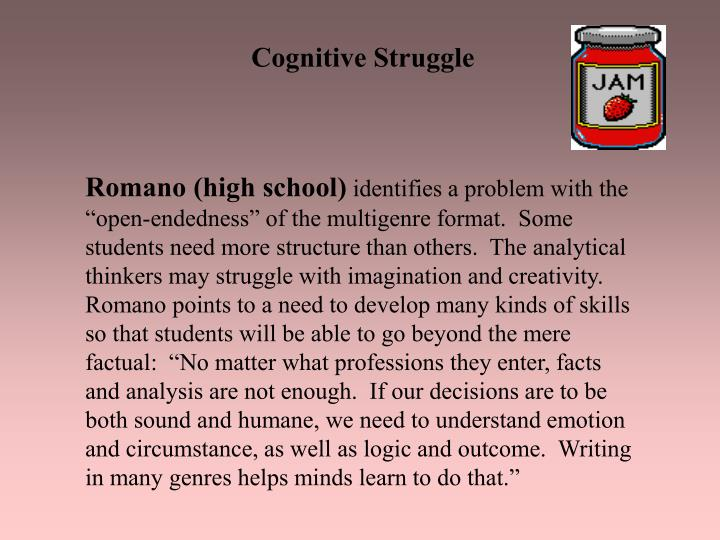 Cognitive Struggle
