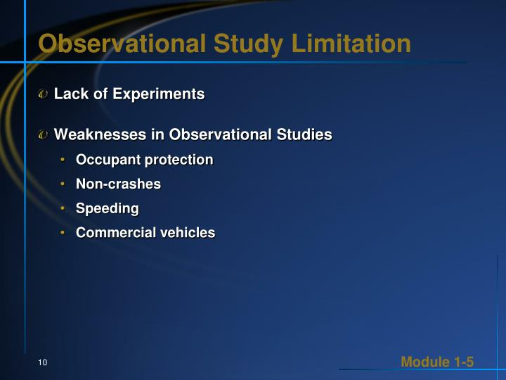 Observational Study Limitation