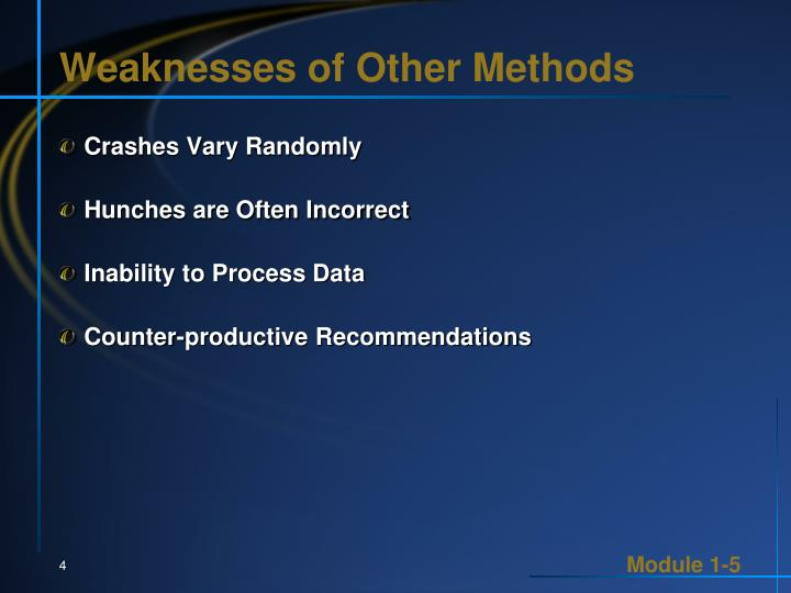 Weaknesses of Other Methods