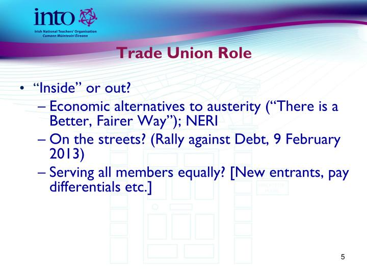 Trade Union Role