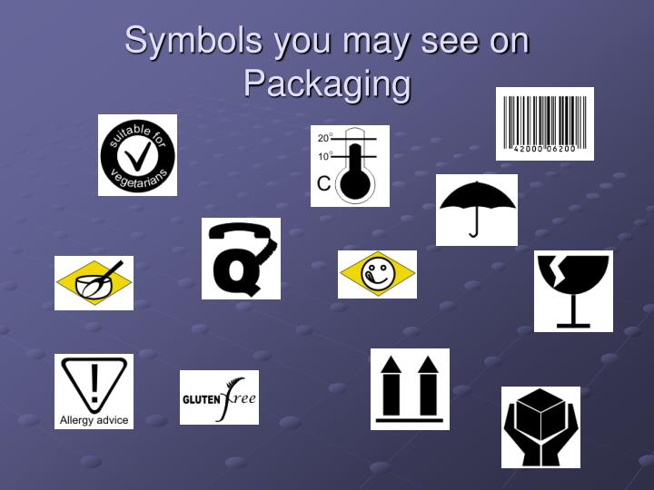 Symbols you may see on Packaging