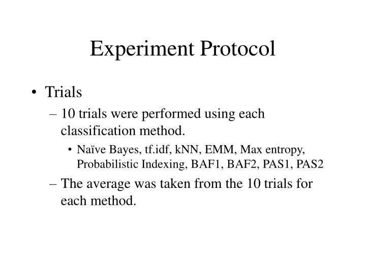 Experiment Protocol