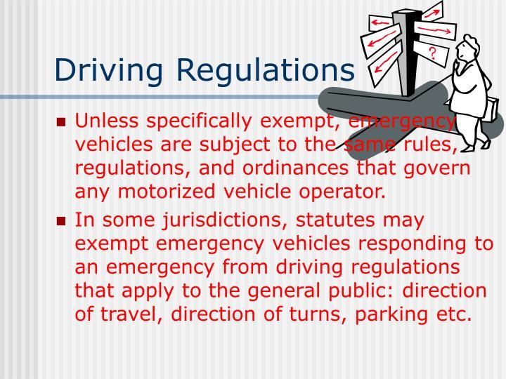Driving Regulations