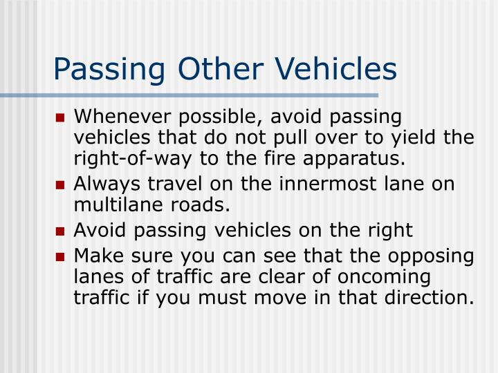 Passing Other Vehicles