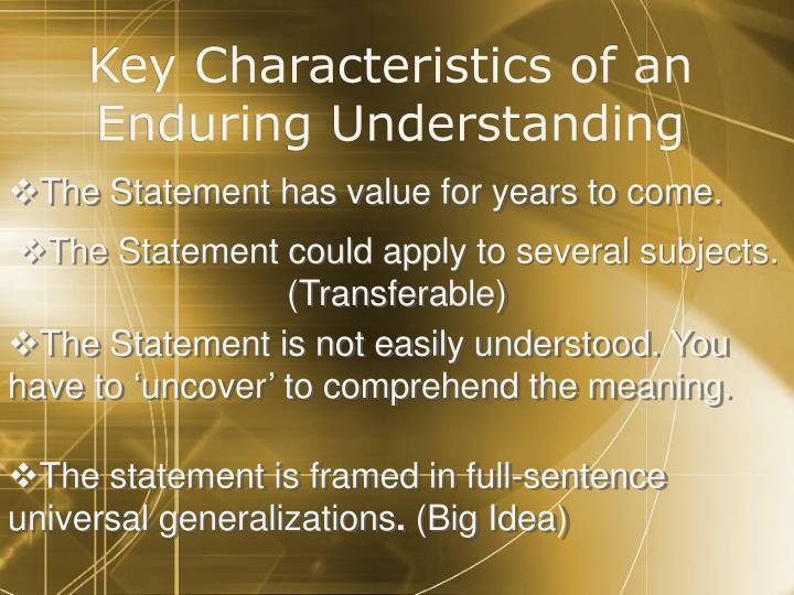 Key Characteristics of an