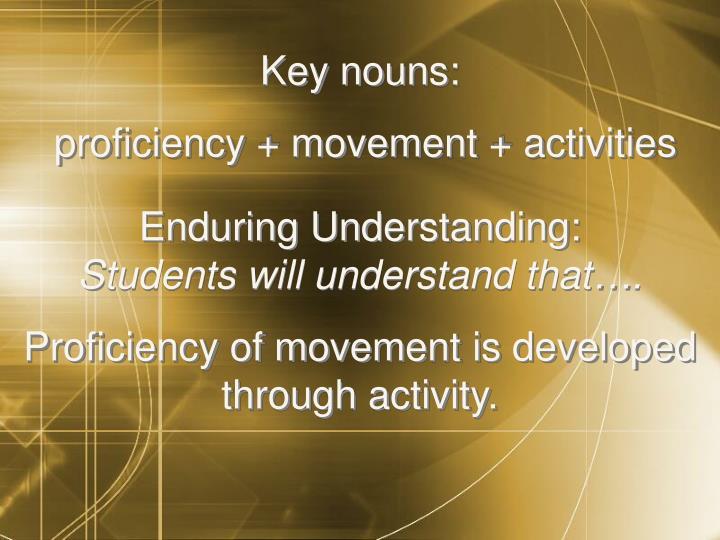 Key nouns: