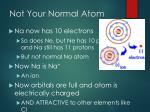 not your normal atom