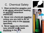c chemical safety