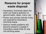 reasons for proper waste disposal