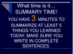what time is it summary time