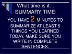 what time is it summary time1