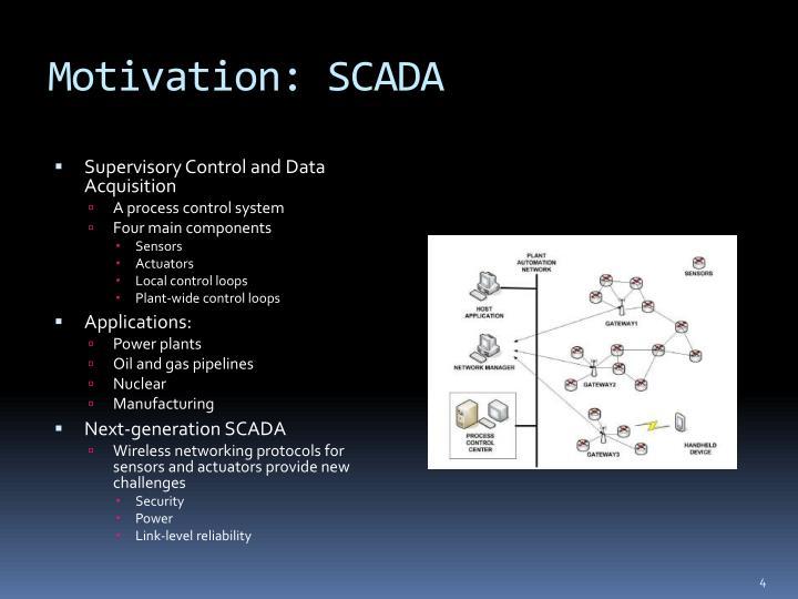 Motivation: SCADA