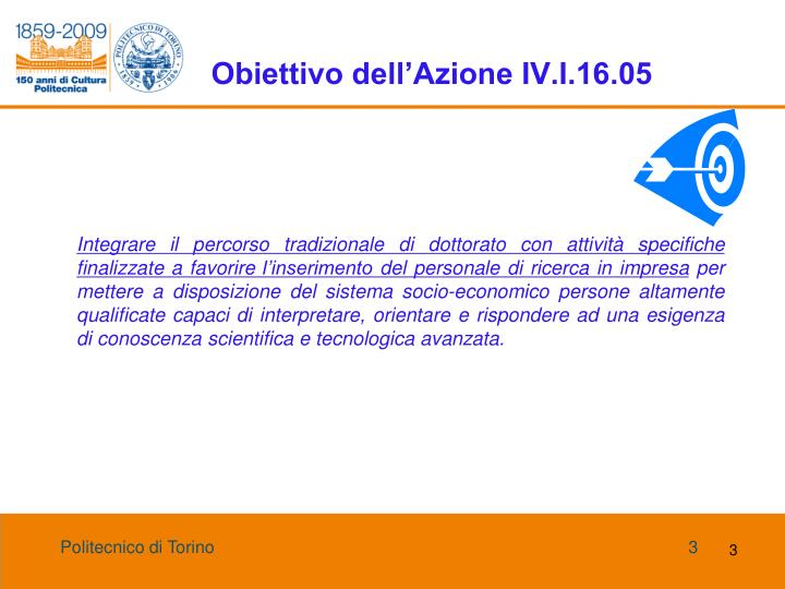 Obiettivo dell azione iv i 16 05