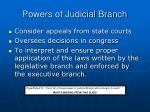 powers of judicial branch